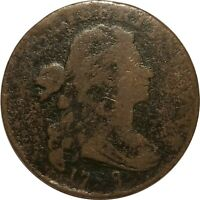 1798 Draped Bust Large Cent, S-163, R.4, VG Details, Corroded