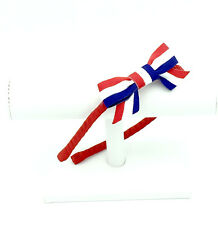 Custom Patriotic Red, White,  Blue Metal Headband and Bow, 4th of July Headband