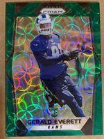 2017 Panini Prizm Green Scope Rookie Gerald Everett 241. SP #d/99 Rams Seahawks