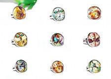 STEAMPUNK Ring +++ AUSWAHL +++ Glas Cabochon silber verstellbar Schmetterling