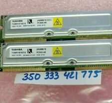 512MB KIT 2 X 256MB  ECC RDRAM PC800-45 800MHz  RIMM Rambus Memory Module