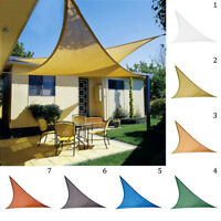 98% UV Block Sun Shade Sail Garden Patio Awning Canopy Sunscreen w/PE Rope Set
