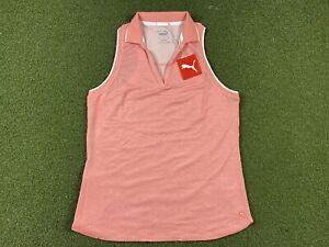 PUMA Sprinter Sleeveless Golf Polo Peach WMNS SZ S ( 599252 07 )