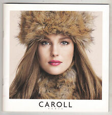 CAROLL PARIS CATALOGUE FRENCH FASHION  COLLECTION AUTOMNE HIVER 2010 - 38 PAGES