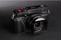 Handmade Black Leather Half Case Bag for Fuji X-PRO 1 XPRO1 Camera