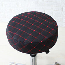 Elastic Bar Stool Covers Chair Seat Cover Protector Cushion Pad Black