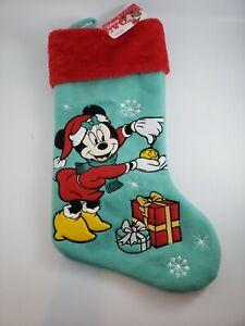 """Disney Minnie Mouse 18"""" Christmas Stocking NWT"""