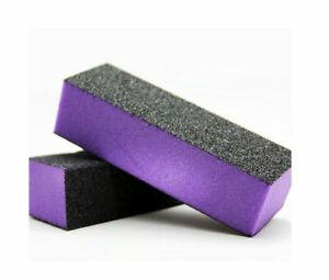 The Edge NAIL BUFFER ACRYLIC SANDING BLOCK FILES PURPLE 60/100 Grit