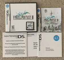 Final Fantasy III (Nintendo DS, 2006) Complete