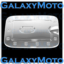 Triple Chrome Fuel Gas Door Cover Fit 2008-2012 Nissan Pathfinder SUV Trim Bezel