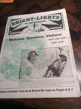 """Antique 1936 Indianapolis 500 """"Bright Lights Speedway Issue"""" Auto car Racing"""