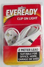 Clip On Light Bayonet Cap Bulb Holder 2 Metre Cable UK Plug EverReady