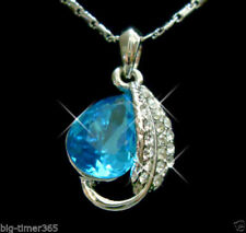 Pear Sapphire White Gold Costume Necklaces & Pendants
