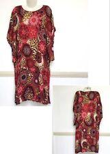 Sweet Dream Womens Dress Red Leopard Animal Print Viscose Kaftan Plus Size New