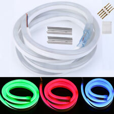 Outdoor Led Neon Light DC 12V Flexible White Red Blue RGB Strip Sign tape Clips