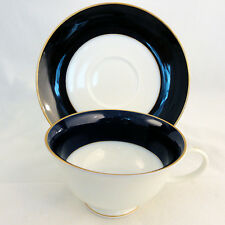 CLAUDINE COBALT Rosenthal Porcelain Cup & Saucer LOW CUP NEW NEVER USED Germany
