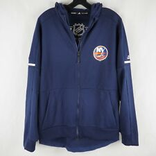 Adidas Men's Hoodie Jacket Full Zip Centennial Limited New York Islanders Blue M