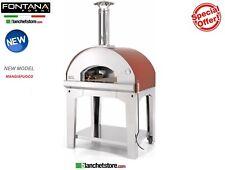 Four a bois Four a pizza Fontana Mod Mangiafuoco Red 4 pizza a bois