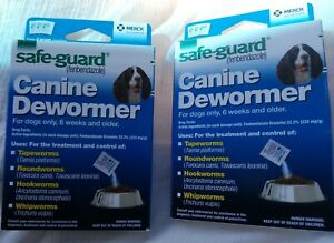 2 Boxs DOG SafeGuard fenbendazole Canine Dewormer (8 in 1) Treats 20# PANACUR