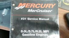 USED MERCURY SERVICE MANUAL 5.0L/5.7L/6.2L GASS ENGINES S/N OM300000 AND ABOVE.