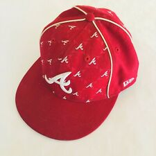 New Era 59FIFTY ATLANTA BRAVES Red Cap MLB Baseball 5950 Fitted Hat