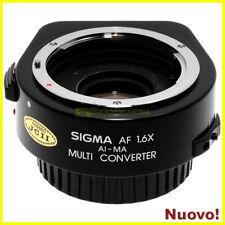 Adattatore/moltiplicatore Sigma AF 1,6x per obiettivi Nikon AI su Sony-A/Minolta