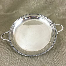 Oggetto d'ANTIQUARIATO placcato argento ciotola Piatto da portata Shallow TWIN
