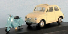 VITESSE Fiat 500 (White) With Vespa Scooter 1/43 Scale Diecast Model NEW, RARE!