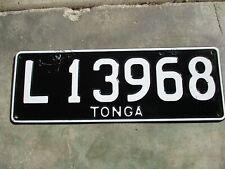 Tonga license plate #  L 13968