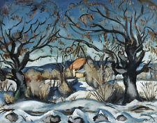 Friesz Othon Emile The Cottage Landscape Canvas 16 x 20  #7235