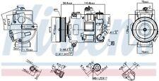 NISSENS Kompressor Klimaanlage 890632 für SKODA VW AUDI SEAT O-RINGS INCLUDED 2