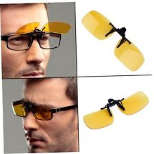 Driving Night Vision Clip-on Flip-up Lens Sunglasses Glasses Cool Eyewear L4qw