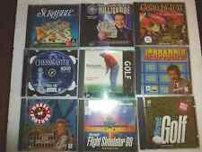 PC Game - Lot of 9 Great Games - Scrabble, Jeopardy, Chess, Golf...