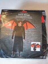 Adult Red & Black Inflateable Devil Wings Halloween Costume Trick or Treat