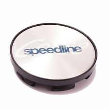 SPEEDLINE CORSE ALLOY WHEEL POLISHED CENTRE CAP (1) with Plastic Back 60mm