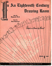 """SHEET MUSIC - """"IN AN 18th CENTURY DRAWING ROOM""""  - BASED ON A THEME BY MOZART"""