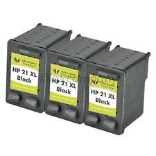 3 Druckerpatronen HP 21 XL für Deskjet D1420 3938 D1460 D1468 D1560 D1568 F2100