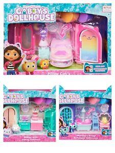 NEW Netflix Gabby's Doll House Furniture Set - Kitchen, Bedroom, Bathroom 3 Sets