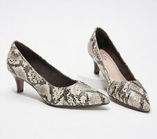 Clarks Collection Pointy Toe Pumps - Linvale Crown Snake Multi US 6M NEW