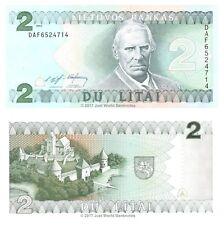 Lithuania 2 Litai 1993 P-54  Banknotes  UNC