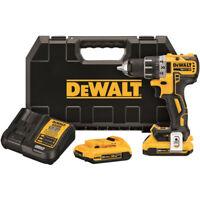 DEWALT 20V MAX XR 2.0 Ah Li-Ion 1/2 in. Drill Driver Kit DCD791D2 New