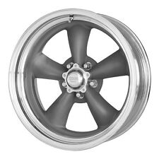 4 15 inch 15x7 15x8 TORQ THRUST II GRAY Wheels Rims for 1967-1981 Camaro 5x4.75