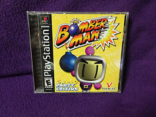 Bomberman Party Edition PS1 PS2 Complete Black Label Playstation Game TESTED!
