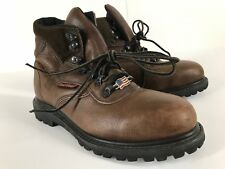 Red Wing Steel Toe Insulated Leather Boots Brown Size 6.5 D