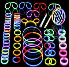 100PC PARTY GLOW STICKS PACK GLASSES RING PARTY PACK GLOWING FUN RAVE