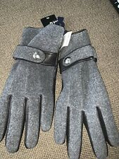 NWT Men's Polo Ralph Lauren Melton Leather/Wool Grey Touch-Screen Gloves $68 XL