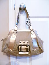 Guess Gold & Tan Canvas and Leather satchel handbag never used. No tags.