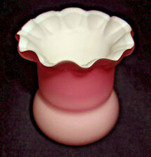 Peach Blow Toothpick/Bud Vase Matte finish cased by Wheeling Glass or Sandwich
