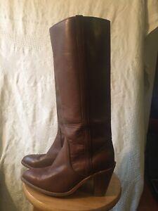 Vintage Womens Brown Frye Western Style Size 9