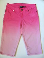 Sity Street Youth Girls Stretch Denim Capri - Pink, Size: 3